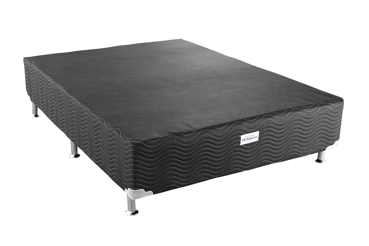 Cama Box Base Ortobom Light Tecido Black 020