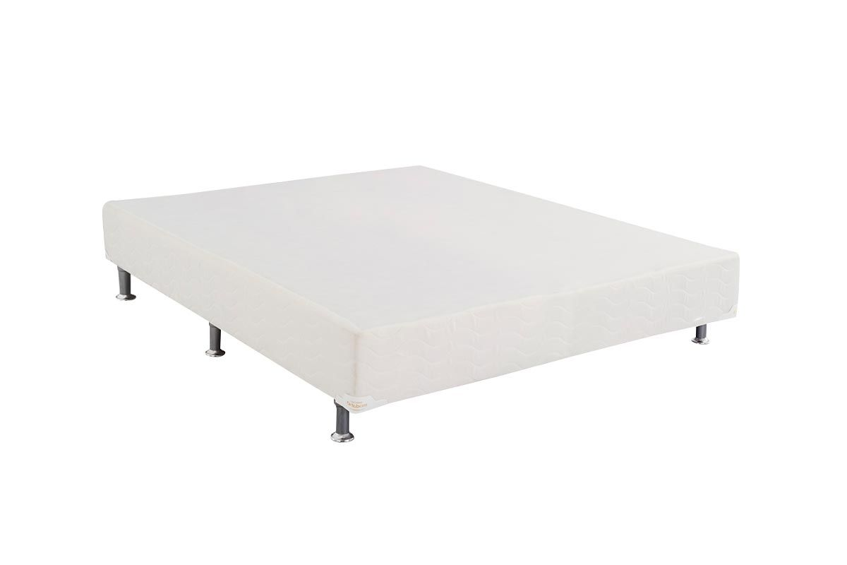 Cama Box Base Ortobom Light Tecido White 024