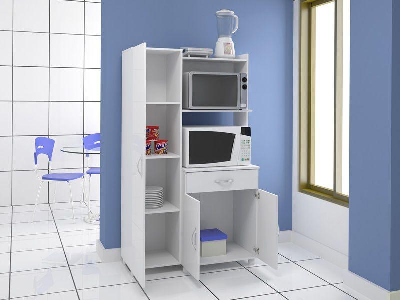 Arm rio de cozinha multim veis p forno e microondas 4080 - Armario para microondas ...