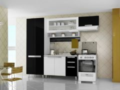 Gabinete (Balcão) de Cozinha Itatiaia Suprema Madeira Triplo 2 Portas + 3 Gavetas  s/ Tampo 120cm (IG3G2ST-120TL)