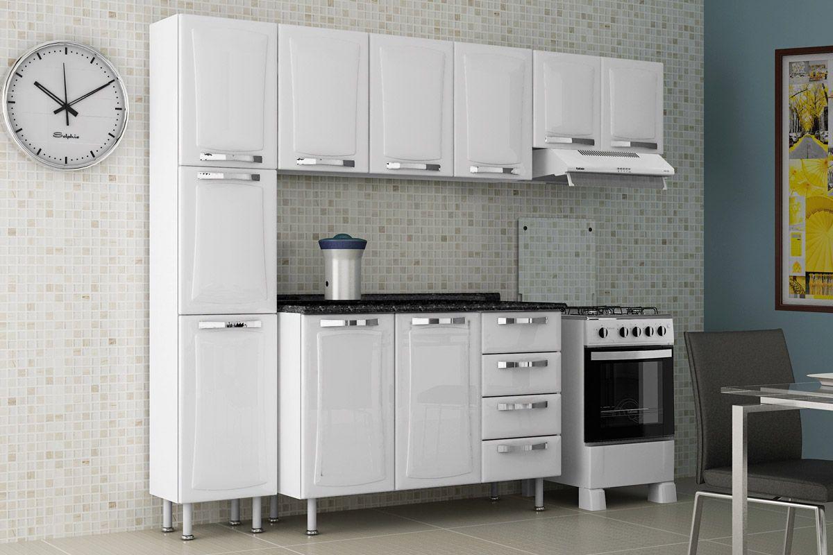 Armario Inferior Cozinha Cozinha Com Piso E Bancadas Pretas Projeto