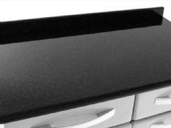 Gabinete (Balcão) de Cozinha Itatiaia Itanew Aço 2 Portas  c/ Tampo 80cm (IG2GD-80)