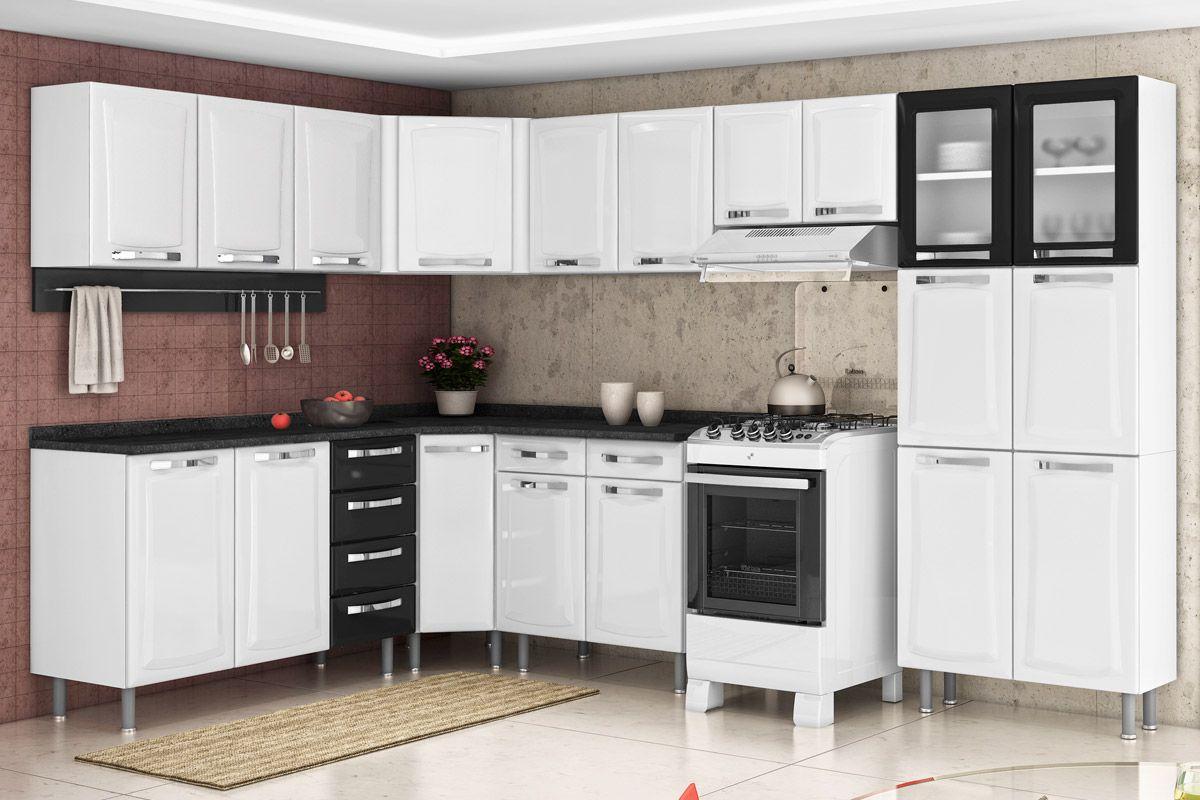 Gabinete de Cozinha Itatiaia Itanew IG3G4GD 120 c/ Tampo Cor Branco c  #A12F2A 1200 800