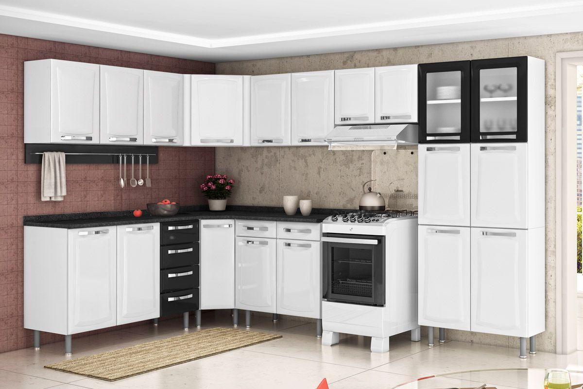 Cozinha Itatiaia de Canto Itanew IAG NG Aço c/ Tampo Cozinha #9F302C 1200 800