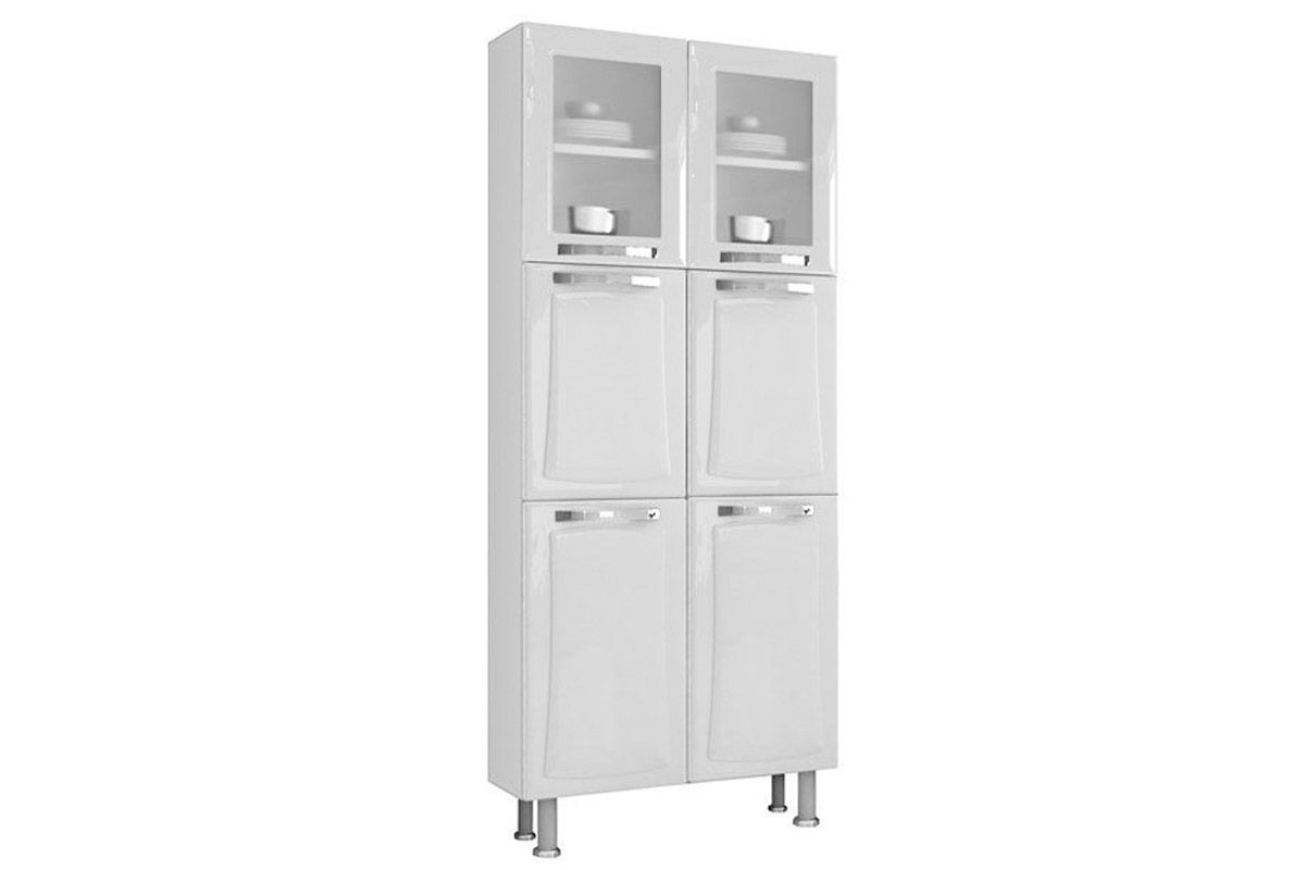 Paneleiro de Cozinha Itatiaia Itanew Duplo IPLDV 80 NG Aço c/ 6  #484848 1200 800
