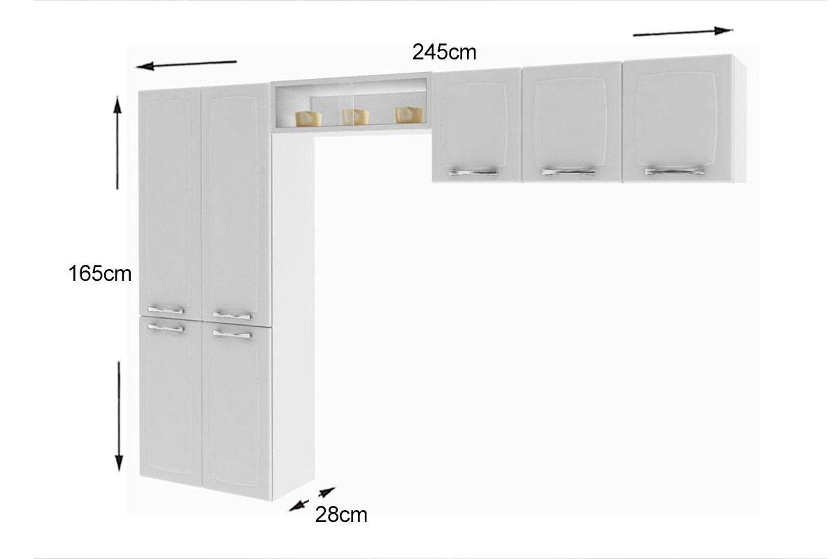 Cozinha Completa Itatiaia Anita Smart COZ Aço (Paneleiro Nicho  #7E6D4D 1200 800