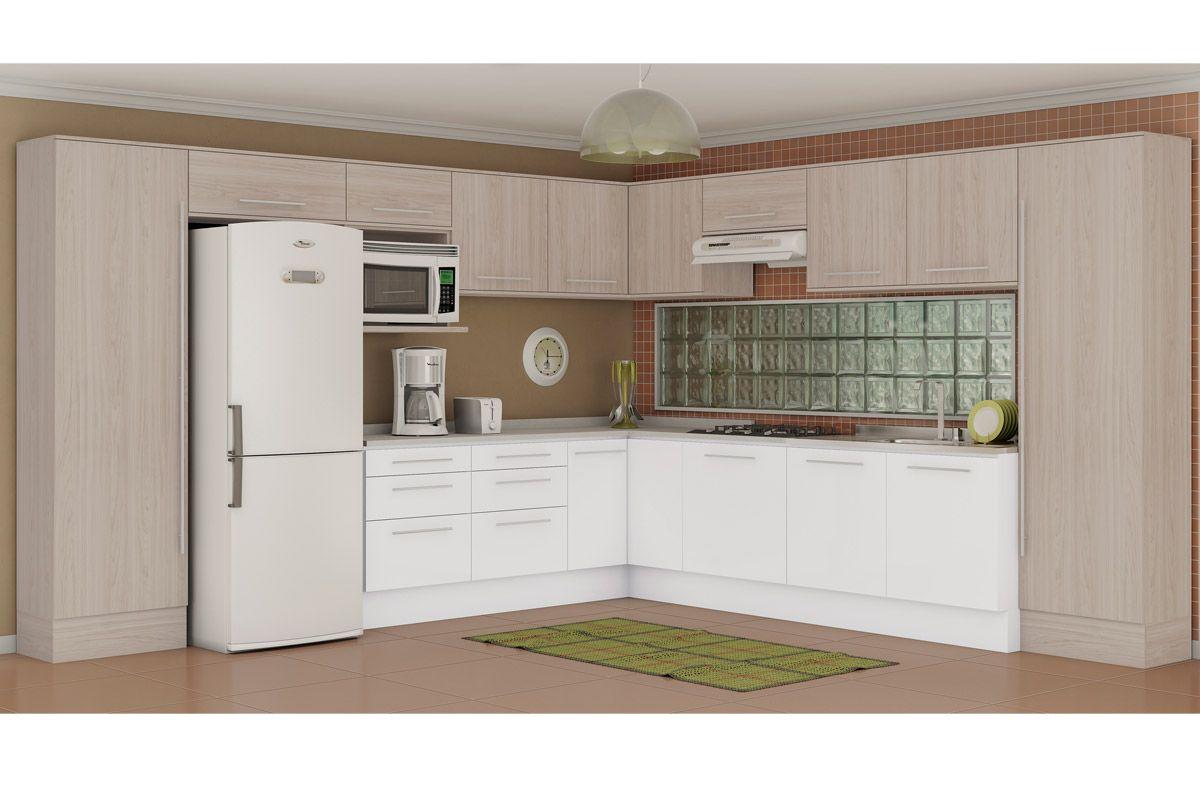 Armário de Cozinha Kappesberg Aereo Alto Unique A665 Madeira c/ 1  #694D39 1200 800