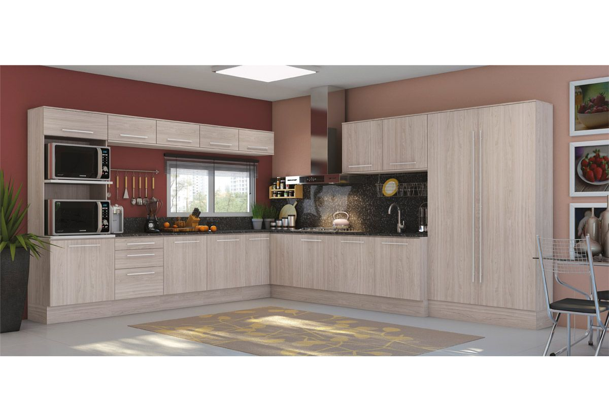Armário de Cozinha Kappesberg Aéreo Unique A662 Madeira c/ 2 Portas  #683C37 1200 800
