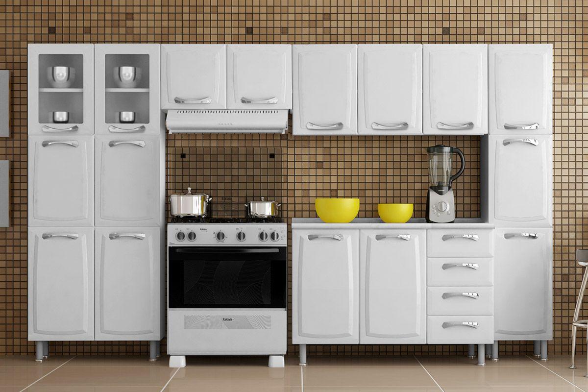 Armário de Cozinha Itatiaia Aéreo Criativa IP3105 MX Aço c 3 Portas 105cm  # Armario De Cozinha Em Promocao Sp