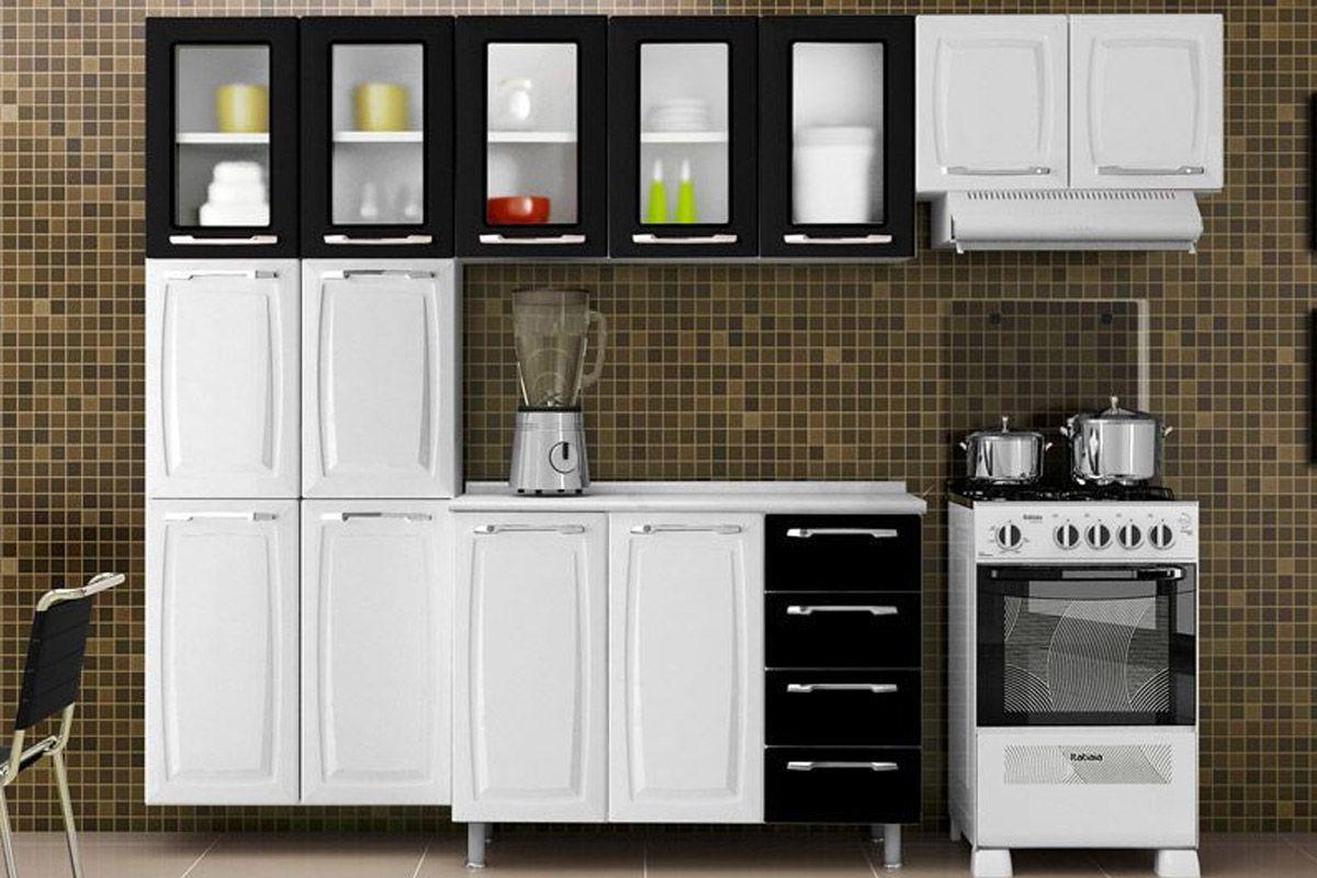 Cozinhas de Aço Completas com Paneleiro Cozinha Itatiaia Criativa  #97B11A 1200 800