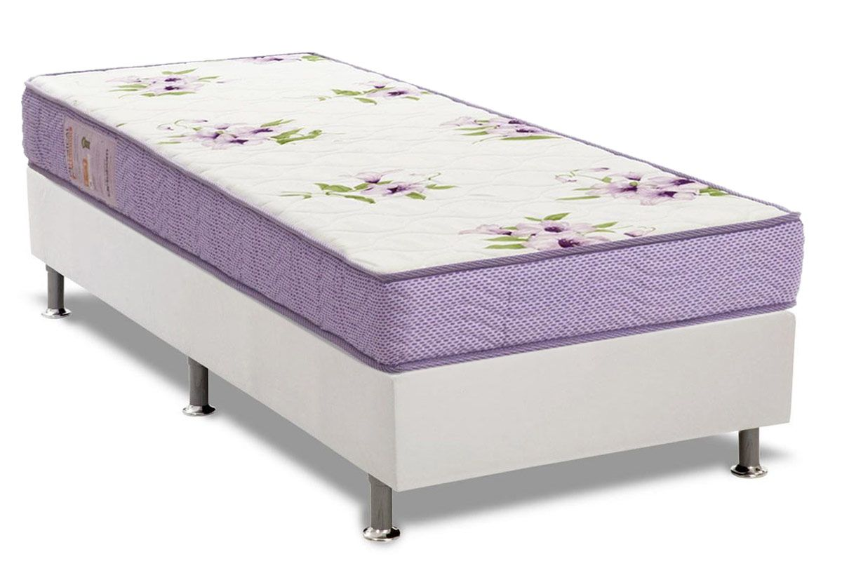 Conjunto Cama Box - Colchão Ortobom Physical Super Resistente + Cama Box Universal Courino White