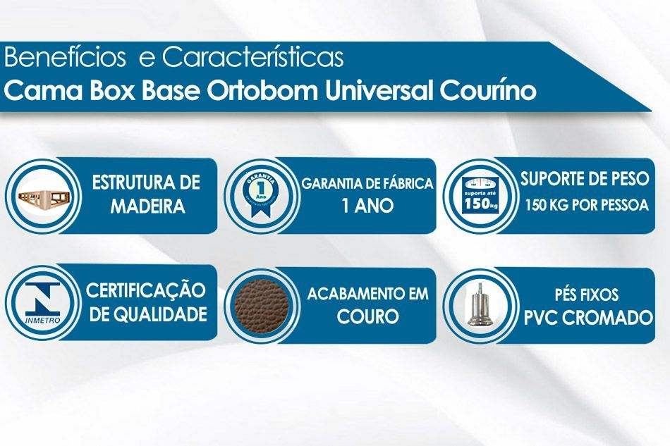 Cama Box Base Ortobom Americana Couríno Bianco 023