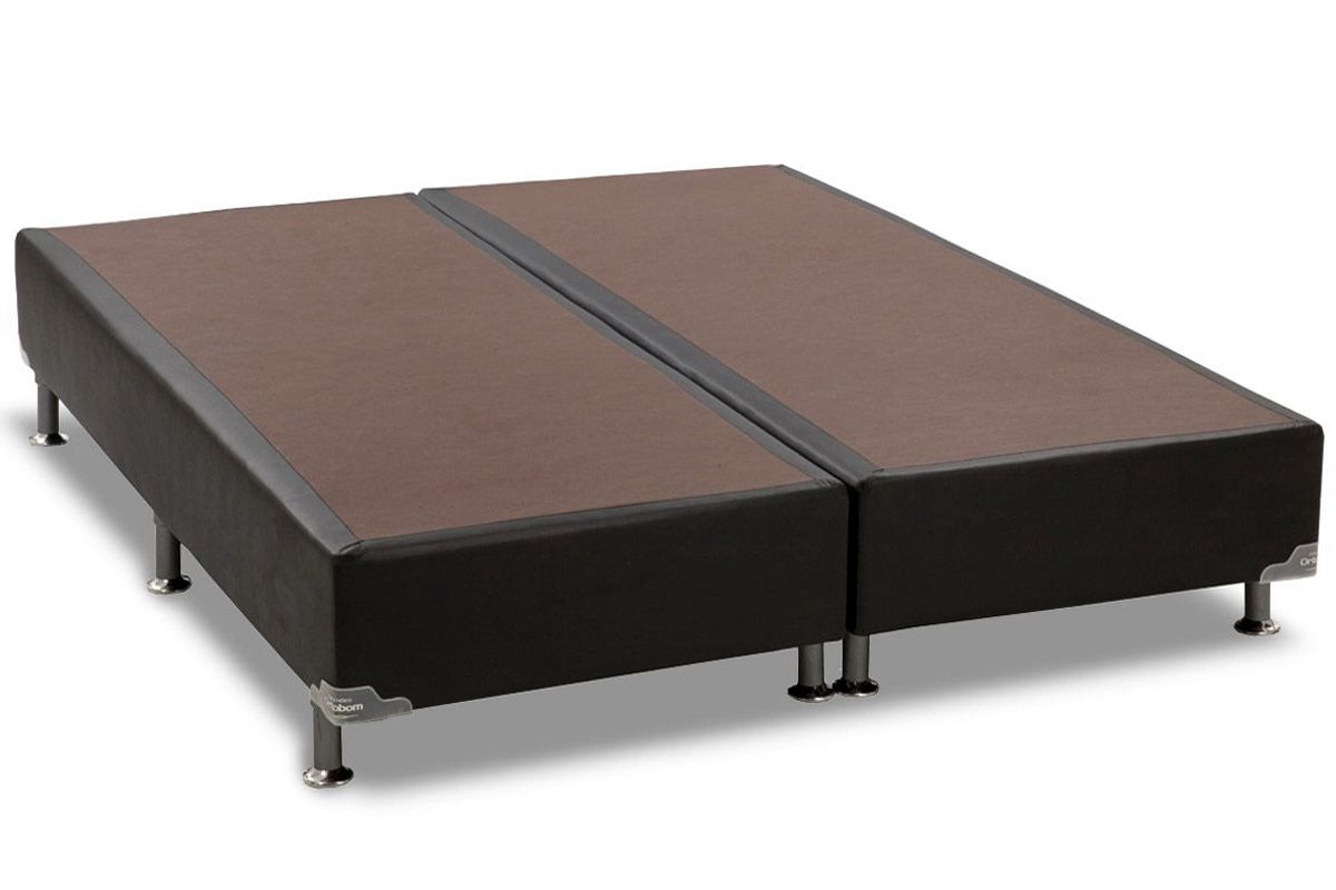 Cama Box Base Ortobom Americana Courino Nero Black 023