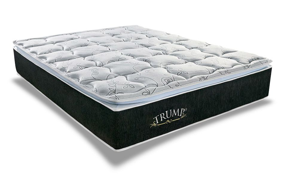 Conjunto Cama Box - Colchão Sealy de Molas Pocket Trump + Cama Box Universal Nobuck Black