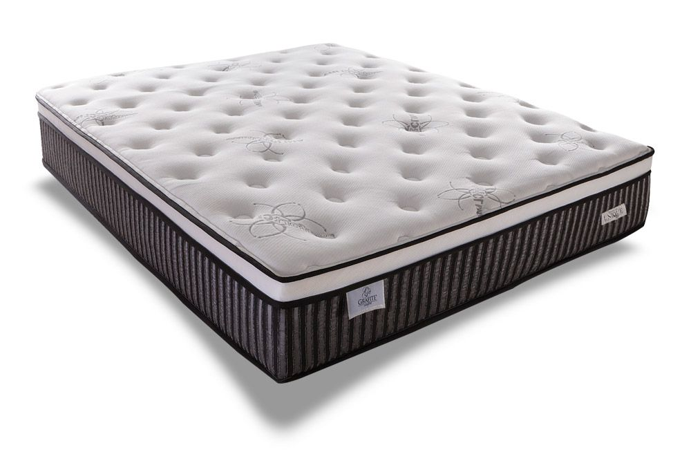 Conjunto Cama Box - Colchão Sealy Molas Pocket Grafite+Cama Box Universal Nobuck Nero Black
