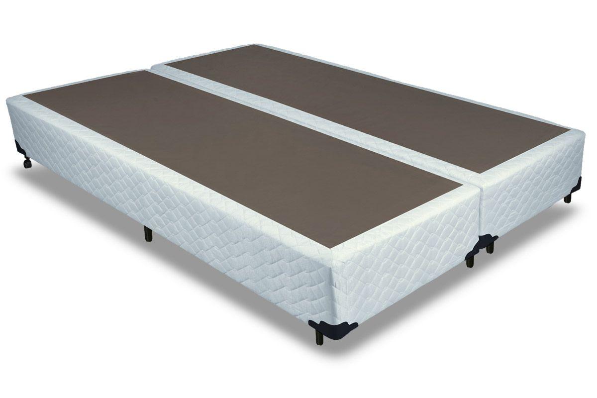Cama box base probel tela branco solteiro 0 88x1 88x0 25 for Base cama king size medidas