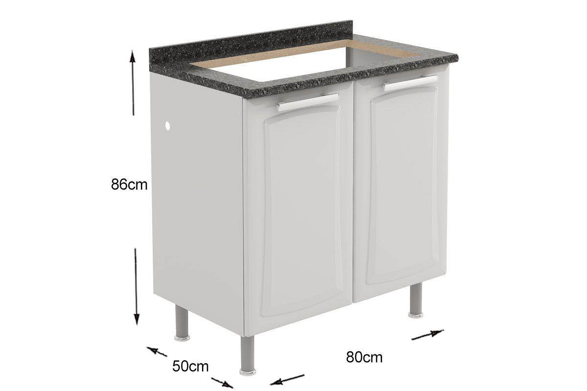 Pin Gabinete Balcão De Cozinha Itatiaia Belíssima Madeira  #7C684F 1200x800 Balcao Banheiro 80cm
