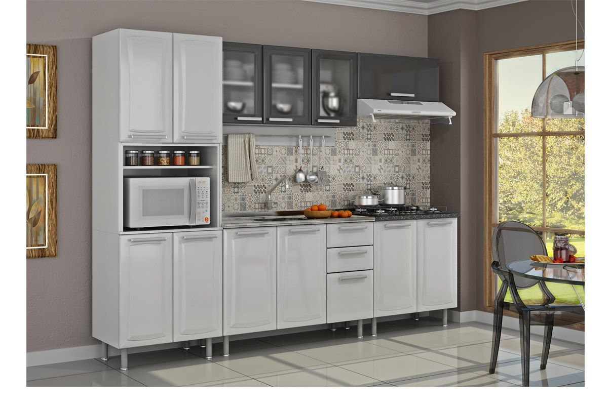 #986C33 Gabinete (Balcão) de Cozinha Itatiaia Felicitá IG3G2 120 PIA Aço c  1200x800 px Altura Padrão Balcão Cozinha Americana_1161 Imagens
