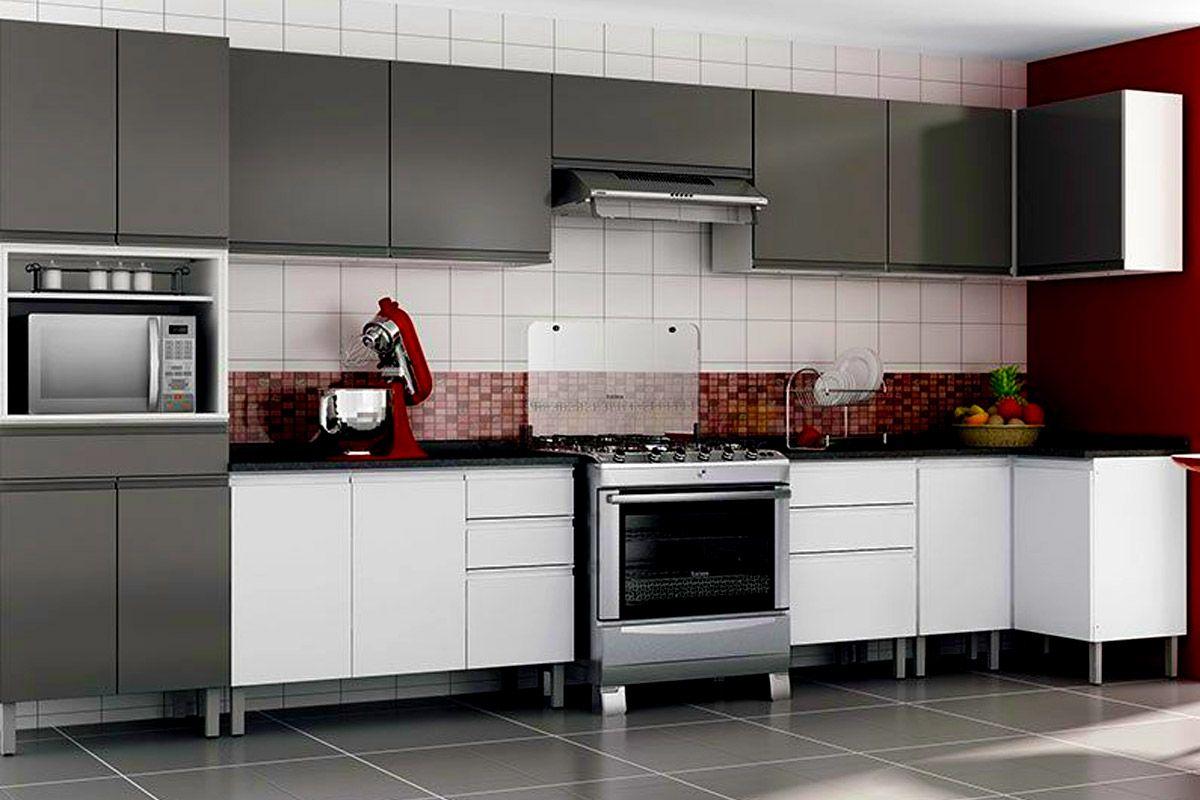 Armário de Cozinha Itatiaia Aéreo de Canto Reto Stilo Plus IPC Aço  #5F3C37 1200 800