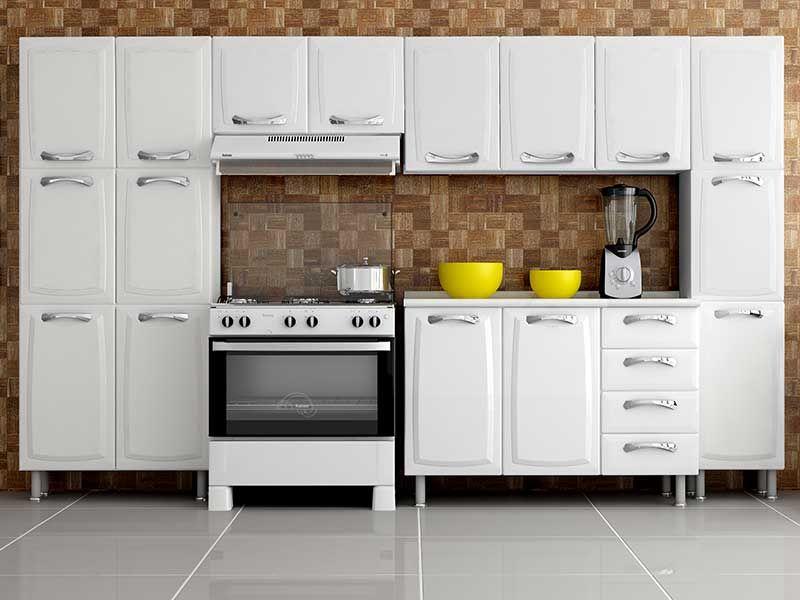 Armário de Cozinha Itatiaia Aéreo de Geladeira Premium IPG280 Aço c 2 Porta # Armario De Cozinha Ferreira Costa