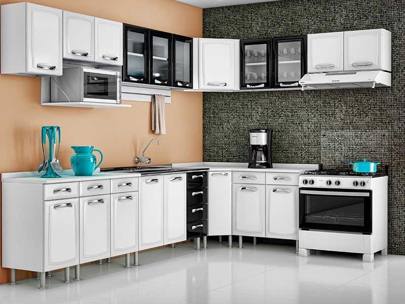 Armário de Cozinha Itatiaia Aéreo de Canto Premium IA Aço c 1 Porta  Costa  # Armario De Cozinha Com Armario De Canto