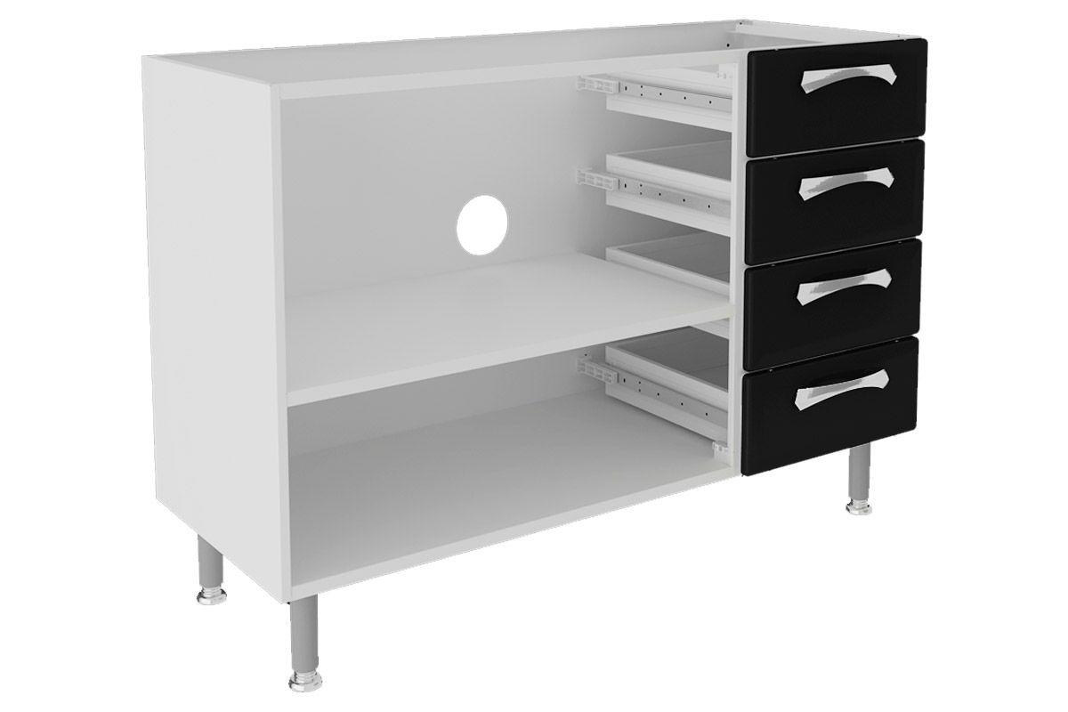 Gabinete (Balcão) de Cozinha Itatiaia Premium IG3G4GDST 120 Aço c/ 2  #666764 1200 800