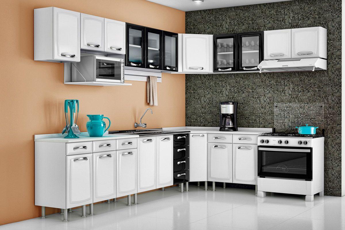 #187C83  de Cozinha Itatiaia de Canto Premium IAG Aço c/Tampo Cozinha 1200x800 px Casas Bahia Armario De Cozinha Itatiaia Premium #1659 imagens
