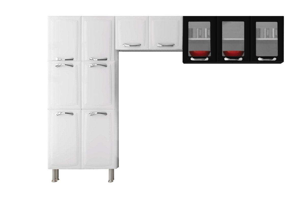 Cozinha Compacta Itatiaia Premium Com Balcao13 Portas 4 Gavetas  #781D1E 1200 800