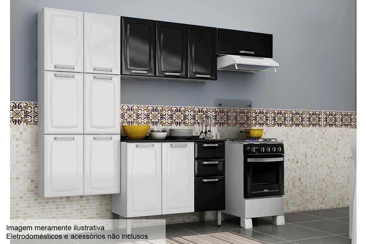 Cozinha Completa Itatiaia Luce De A O C 4 Pe As Paneleiro 2