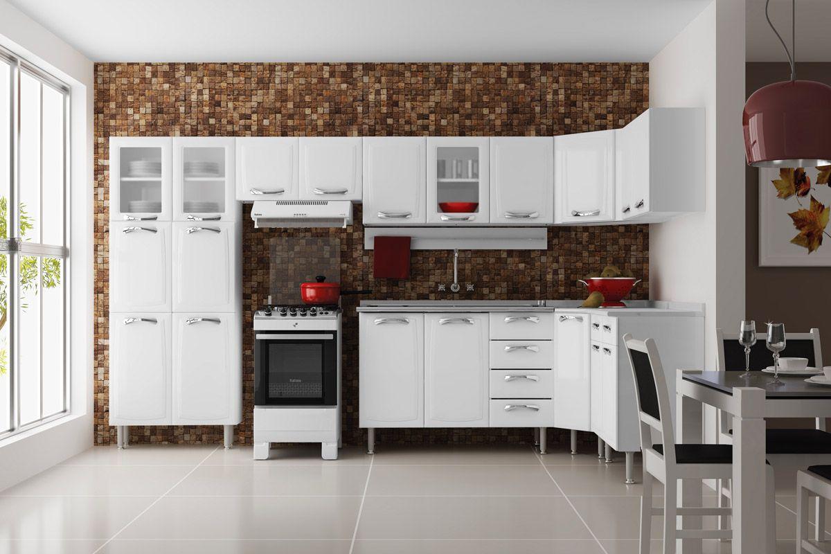 Cozinha Completa Itatiaia Premium de Aço c/ 8 Peças CZ24 Cozinha  #A62725 1200 800