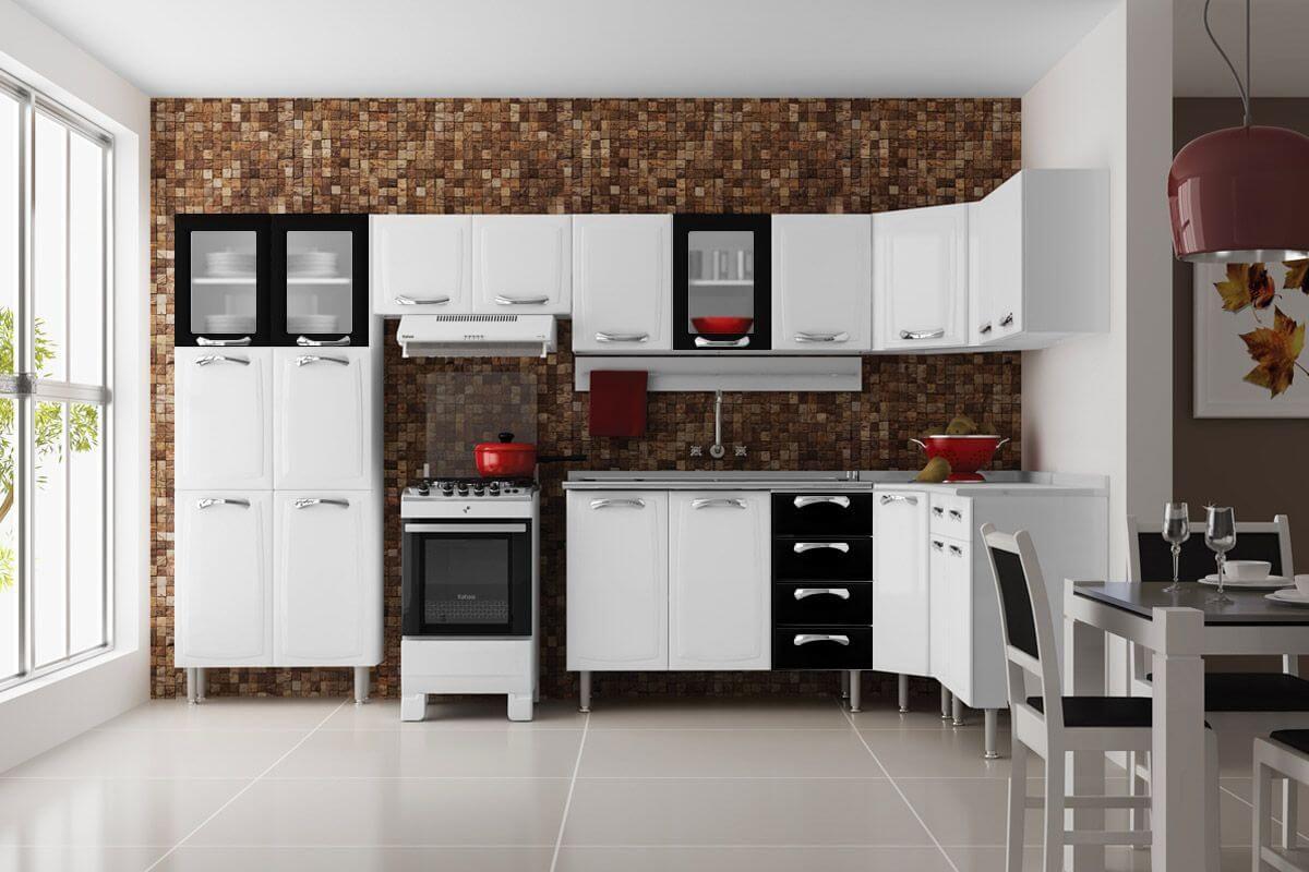 Cozinha Completa Itatiaia Premium De A O C 8 Pe As Paneleiro 4