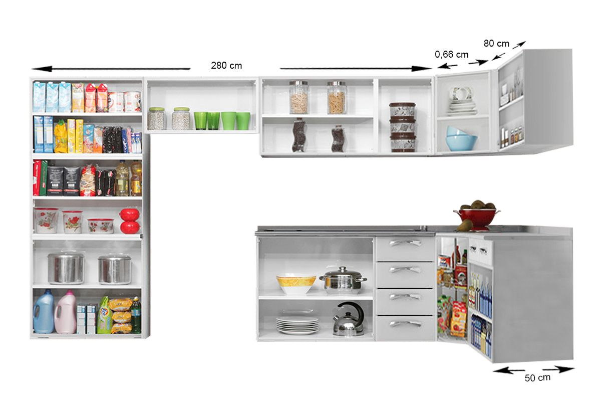 78319e3f3a ... Cozinha Completa Itatiaia Premium de Aço c  8 Peças (Paneleiro+4  Armários+. ‹ ›