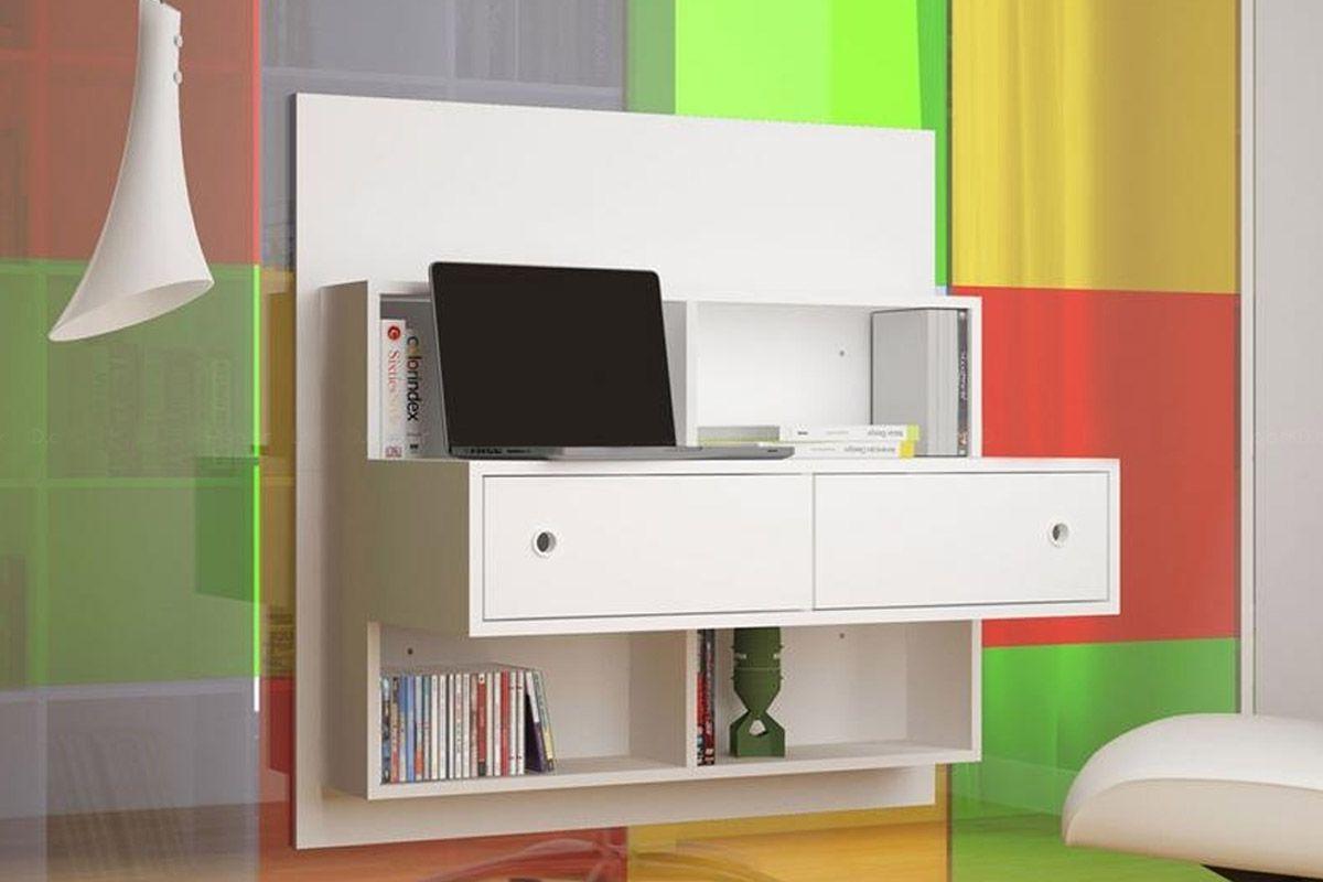 Escrivaninha de Parede BRV BW 04 Cor Branco Costa Rica Colchões #A69025 1200x800