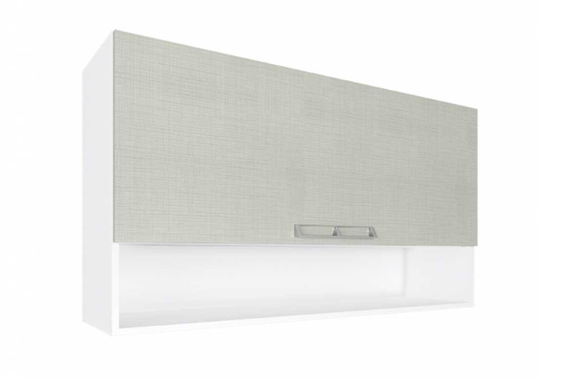 de Cozinha Art In Móveis Aéreo CZ413 Madeira c/ 1 Porta Basculante e  #6A6A61 1200x800