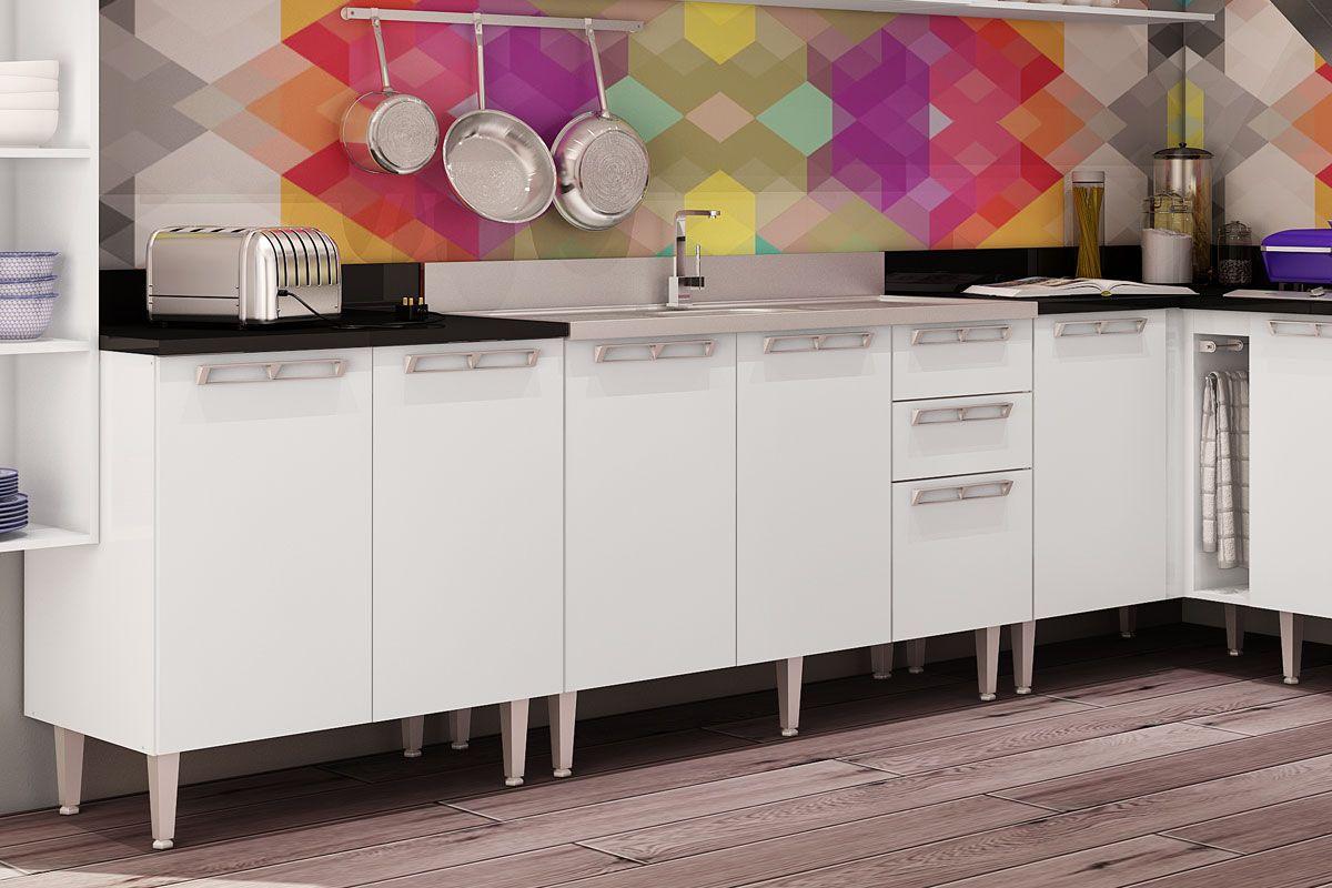 Gabinete (Balcão) de Cozinha Art In Móveis CZ608 Madeira c/ 2 Portas  #966535 1200x800