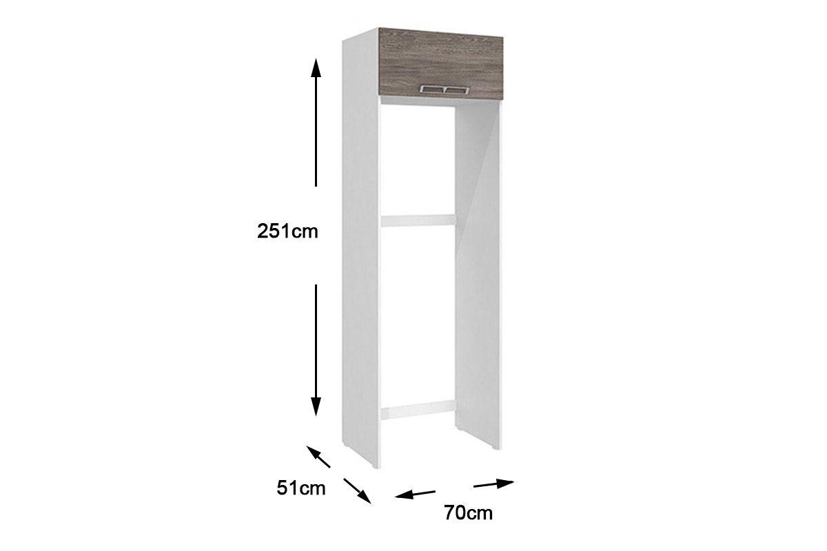 Armario De Geladeira Em Mdf : Gabinete de geladeira art in m?veis cz cor branco