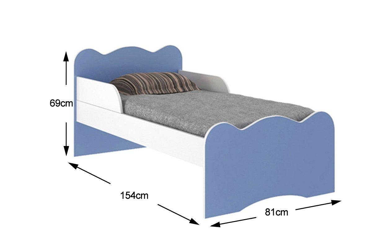 Cama infantil mini cama art in m veis mc8084 cor branco c azul costa rica colch es - Medidas de camas infantiles ...