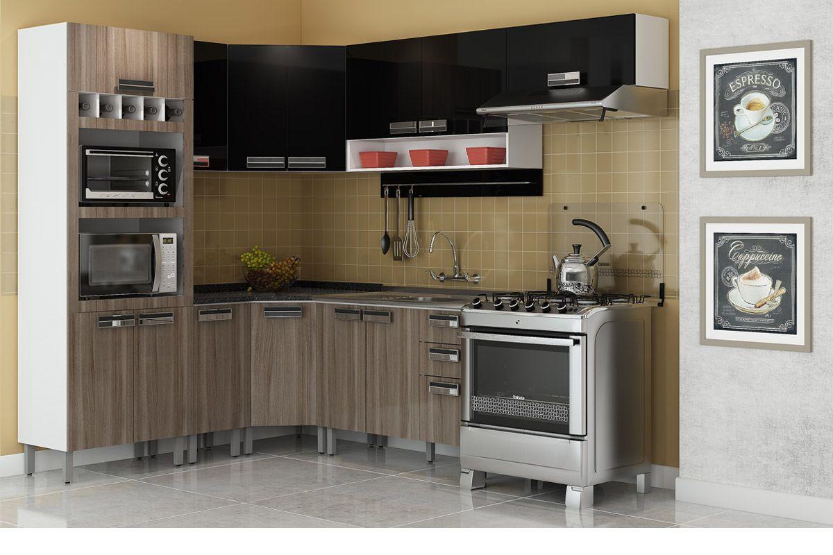 Armário de Cozinha Itatiaia Amare IP2NCH 120 Madeira c/ 2 Portas e  #924339 1200x800