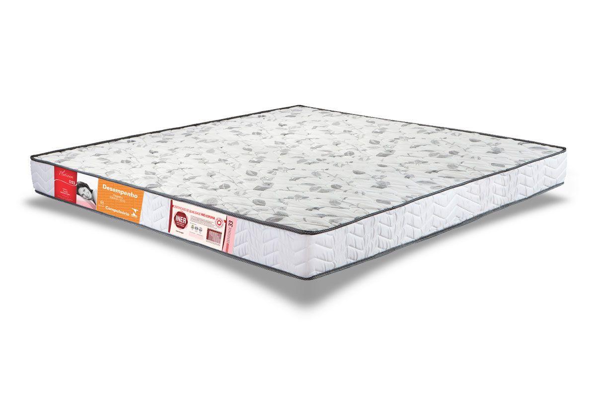 Colchão Orthocrin Espuma D33 PlatinumColchão Casal - 1,38x1,88x0,17 - Sem Cama Box