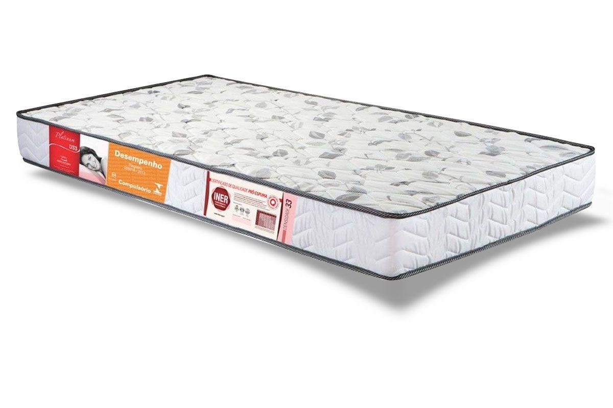 Colchão Orthocrin Espuma D33 PlatinumColchão Solteiro - 0,88x1,88x0,17 - Sem Cama Box