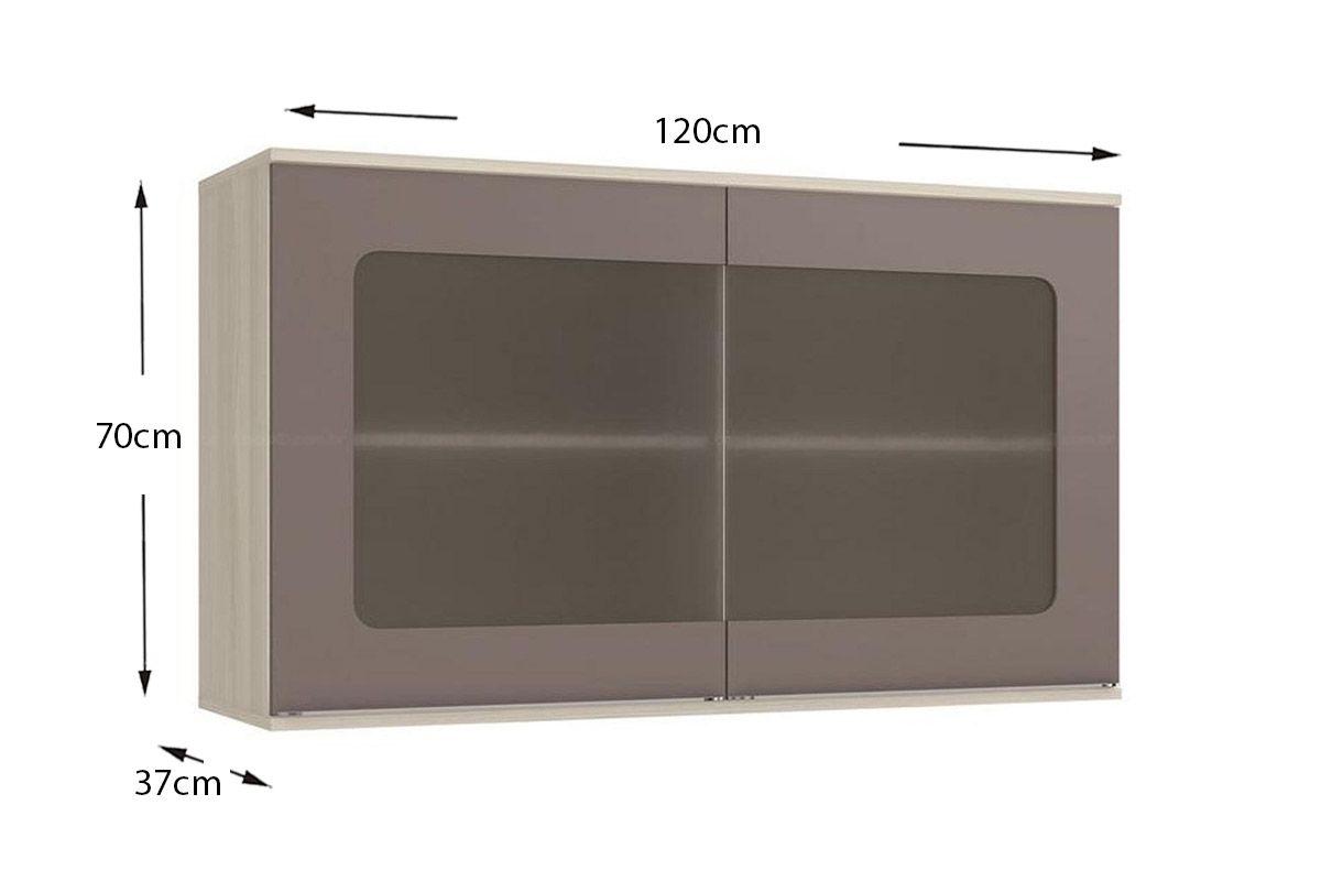 #7A5151  de Cozinha Kappesberg Aéreo Versatti C664 Madeira c/ 2 Portas 120cm 1200x800 px armario de madeira com 2 portas @ bernauer.info Móveis Antigos Novos E Usados Online