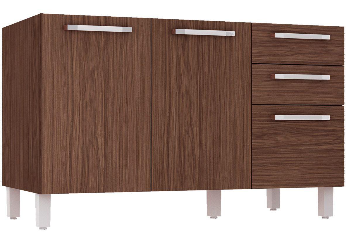 Home Móveis Cozinha Gabinete de Cozinha Balcão Henn Smart Pia 2 Gav  #4C2F24 1200 800