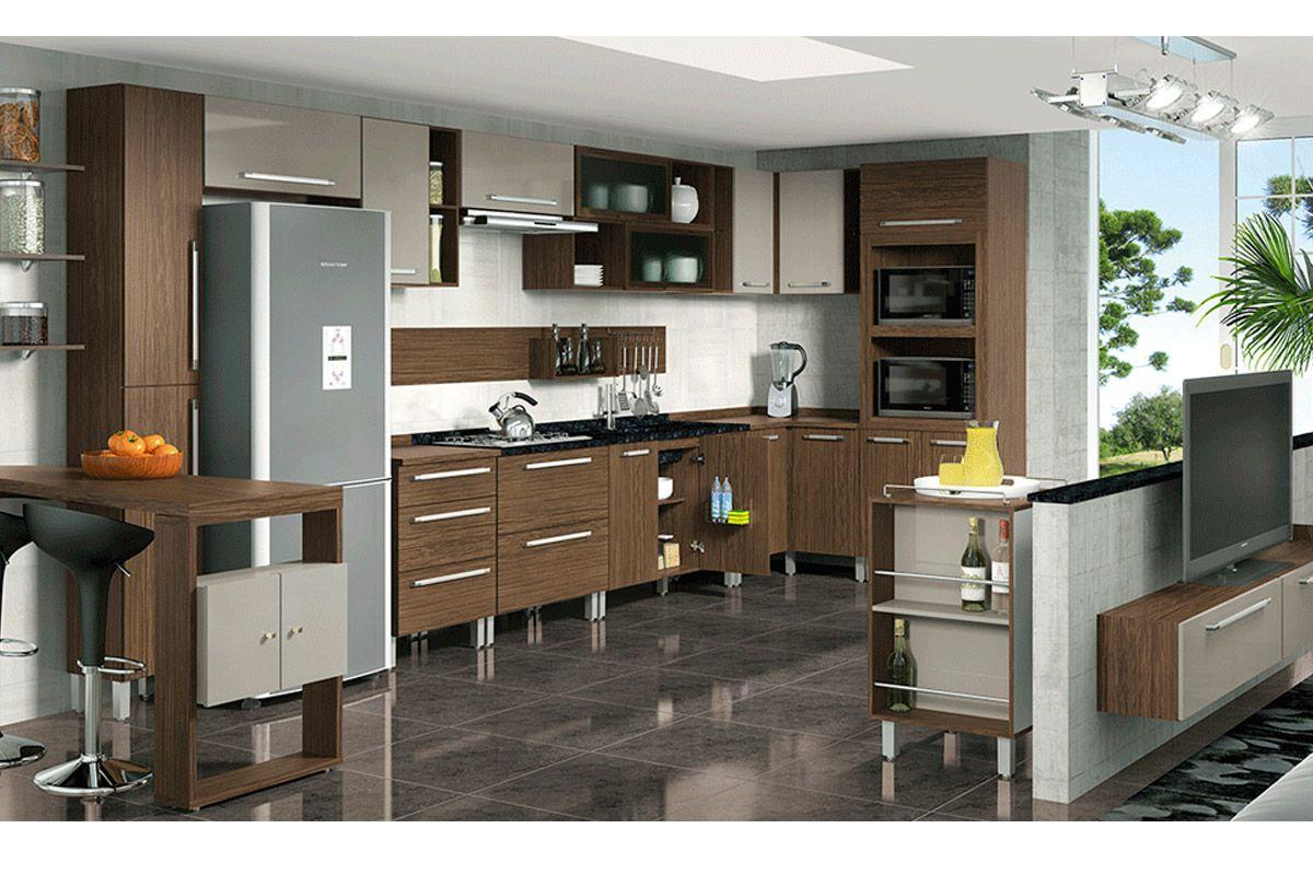 Auxiliar de Cozinha Henn Smart Madeira c/ 1 Porta com Rodízios de  #614C38 1200x800
