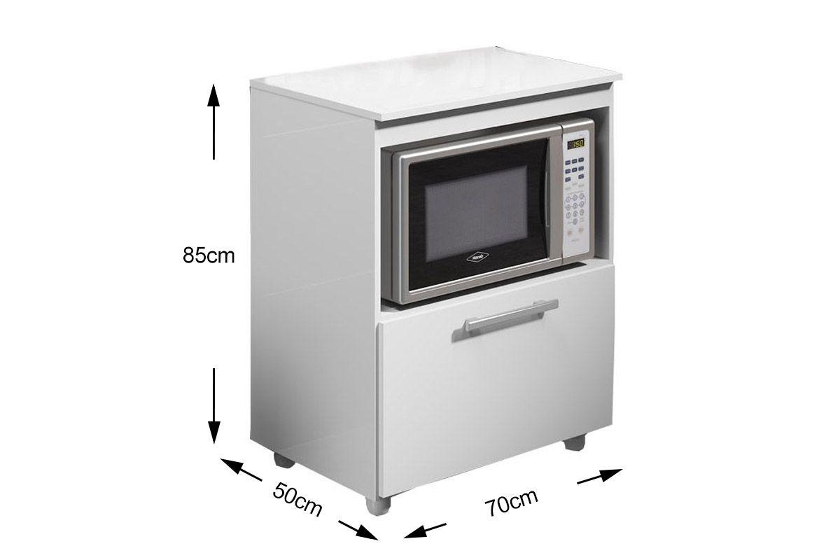 Armário de Cozinha Multimóveis p/ Forno e Microondas 5007 Madeira c  #5B5950 1200x800