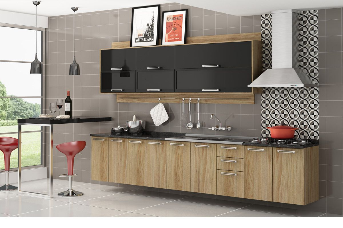 Gabinete (Balcão) de Cozinha Itatiaia Audace IG2A70 Cook 4B Madeira