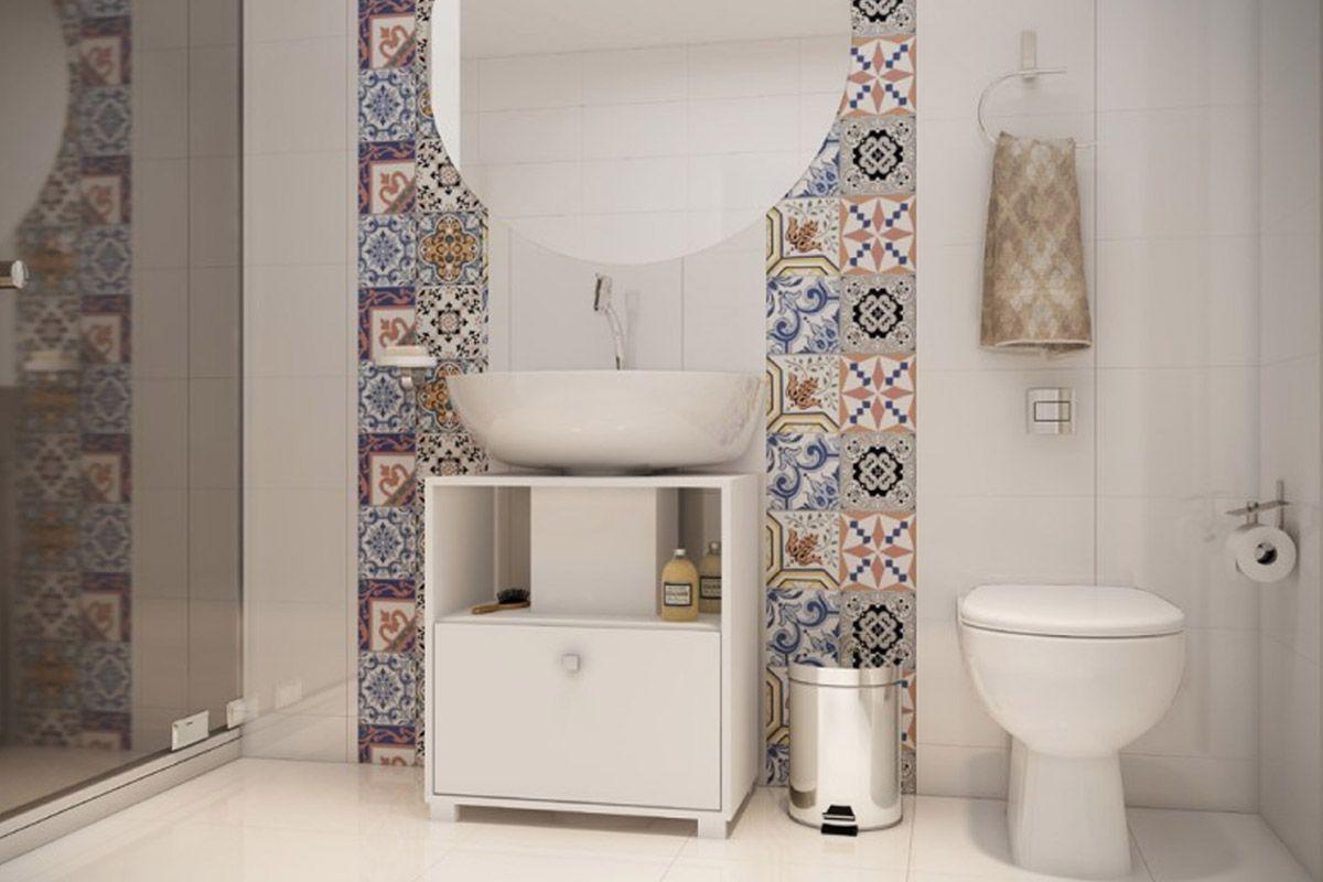 Balcão Para Banheiro BRV BBN 02 Cor Branco Costa Rica Colchões #6E5D4F 1200x800 Armario Banheiro Herval