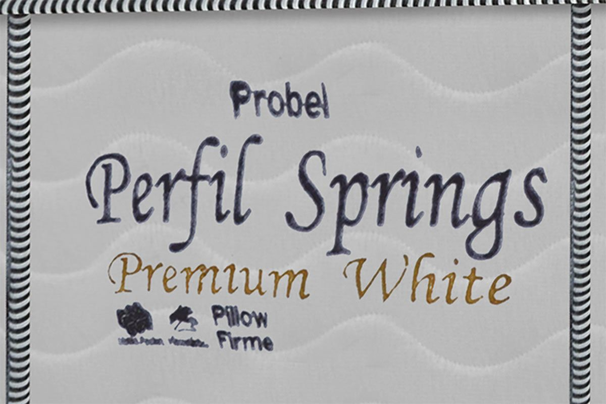 Colchão Probel de Molas Pocket Perfil Springs Premium White Pillow Top