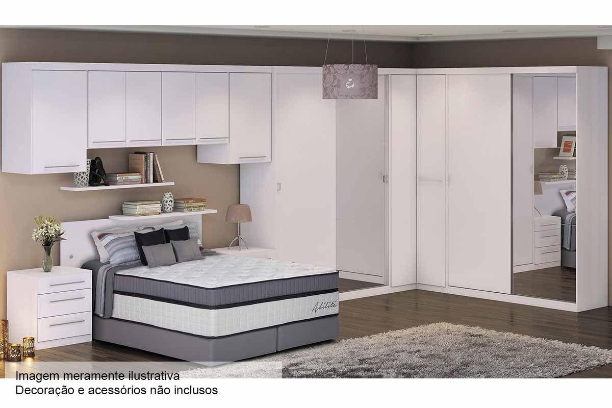 Quarto de casal modulado kappesberg smart completo c 11 for Conjunto de dormitorio completo