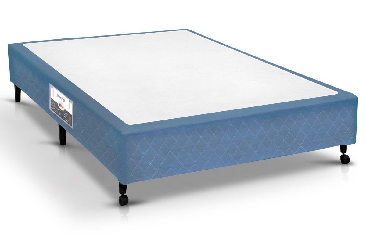 Cama box castor poli azul solteiro 0 88x1 88x0 23 for Cama queen costa rica