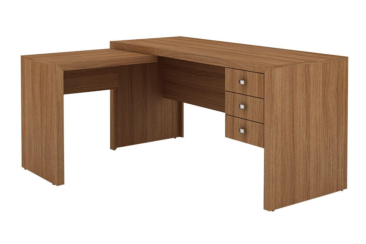 Mesa p escrit rio tecno mobili me 4106 cor branco costa - Protector mesa escritorio ...